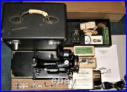 1935 Singer FEATHERWEIGHT 221 Sewing Machine #AE006793 with CASE & Attachments
