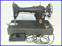 1939 Vintage Wrinkle Finish Singer 66 Sewing Machine with Case Tested-Working INV