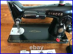 1956 Heavy Duty Singer 201 Sewing Machine Serviced, Tested Ready To Use