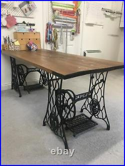 2 X Singer Sewing Machine Bases Made As Table
