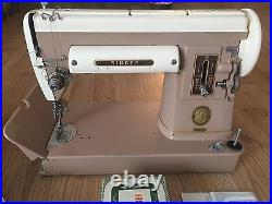 301 Singer Sewing Machine 301A Featherweight 221 Sister Turns On + Attachments