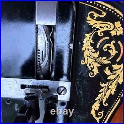 Antique 1885 Singer 12K fiddle base handcrank sewing Machine with Acanthus leave