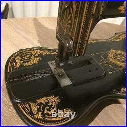 Antique Singer 12K New Family Fiddle base with Acanthus decals 1885