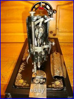 Antique Singer Sewing Machine Model 66'gingerbread', Hand Crank, Serviced