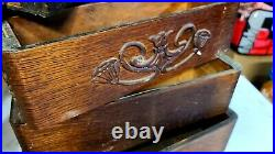 Antique Singer Treadle Sewing Machine Wood Drawers 7 Nice Ornate Boxes & Frame