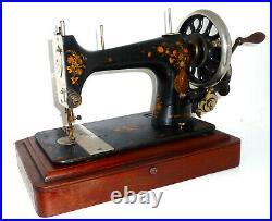 Antique vintage SINGER V. S. 39-2 vibrating shuttle sewing machine SUPER RARE vtg