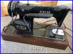 Beautiful Singer 201K antique electric sewing machine