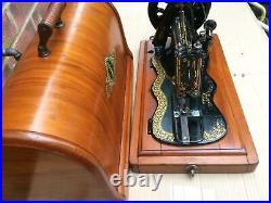 Rare 1885 Antique Singer 12K Fiddle base Hand Crank Sewing Machine