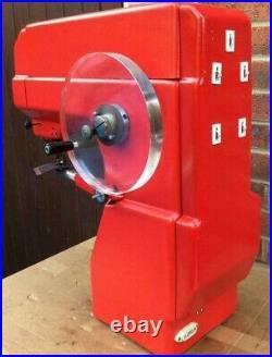 Rare Cased Red Singer 29K71 Walking foot Antique Industrial Patcher Machine