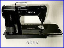 Rare Serviced Vintage Grand Introduction Singer 301 Long Bed Sewing Machine Case