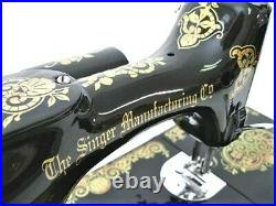 Rare Singer Featherweight 221 Sewing Machine. Early Tiffany Gingerbread Displays