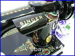 Rare Singer Featherweight 221 Sewing Machine, with 1920's'Red Eye' Displays