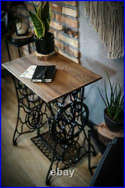 Restored Singer Base Table Support Renewed Vintage Sewing Machine Cast Iron Legs