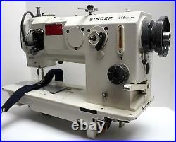 SINGER 411U557A Lockstitch with Piping Foot Industrial Sewing Machine Head Only
