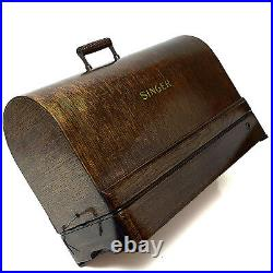 SINGER Sewing Machine Bentwood Carrying Wooden Case Knee Control 201 15 201-2 66
