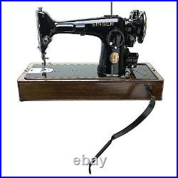 SINGER Sewing Machine Wooden Base for 15 66 201 with Knee Lever Control Restored