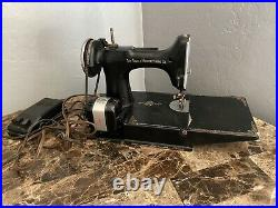 Singer 1936 Featherweight 221 Sewing Machine AE201307 See Description For Repair