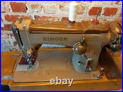 Singer 306k Zigzag sewing Machine serviced video PAT tested
