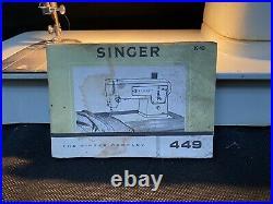 Singer Electric Sewing Machine Model 449 Semi Industrial Vintage