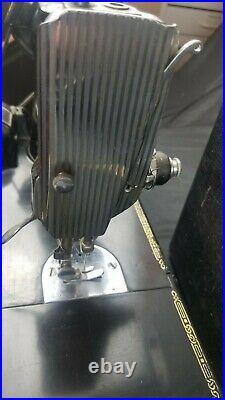 Singer FEATHERWEIGHT 221 CAJ6-8 Sewing Machine Running With Original Case 1950's