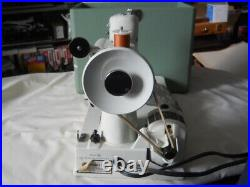 Singer Featherweight 221K Sewing Machine. White, Case Pedal & Attachments Clean