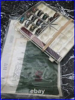 Singer Featherweight 221 Centennial Sewing Machine Scroll Face Accessorie & Mat