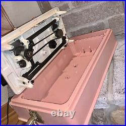 Singer Merritt 2404 Pink Sewing Machine Foot Pedal Case Vintage Made In Brazil