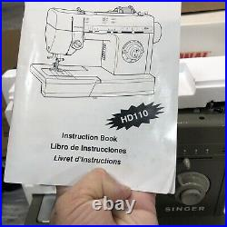 Singer Professional Sewing Machine HD110-C HD Heavy Duty Metal with Foot Pedal