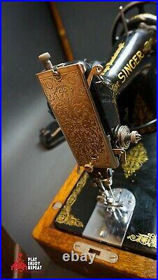Stunning Vintage Singer 99k 1927 Sewing Machine With Bentwood Case Free Uk Pp