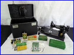 VINTAGE 1954 SINGER 221 FEATHERWEIGHT Sewing Machine with Case & accessories