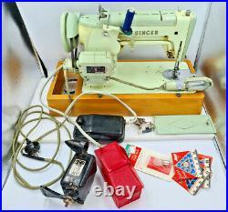 VINTAGE RARE ANTIQUE SINGER SEWING MACHINE BAK 8-12 with Bulk Lot Parts 319