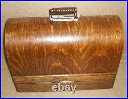 VINTAGE SINGER MODEL 99k HAND CRANK SEWING MACHINE BENTWOOD EMPTY CASE