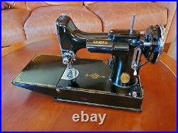Vintage 1939 Singer featherweight 221 sewing machine, new power cord, new lamp