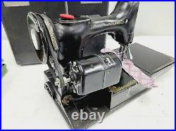Vintage 1948 Singer Featherweight 221 Sewing Machine For Parts Or Restoration