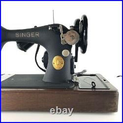Vintage 1949 Singer Sewing Machine Bentwood Case Key Pedal Accessories Working