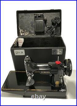 Vintage 1956 Singer 221 Featherweight Sewing Machine Tested & Fully Serviced