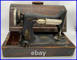 Vintage Antique Singer Sewing Machine Catalog BT7 With Case & Pedal Etc Untested