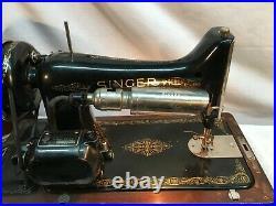 Vintage SINGER SEWING MACHINE in Orig. Bent Wood Case, Parts Repair