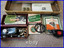 Vintage Singer 301A Sewing Machine withCase Manual ButtonHoler ZigZagger & More