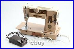 Vintage Singer 401A Slant O Matic Sewing Machine with Foot Pedal