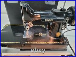 Vintage Singer Featherweight 221-1 Sewing Machine with Case