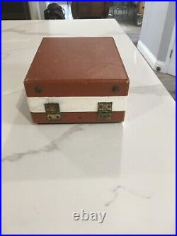 Vintage Singer Sew Handy 20-10 Child's Toy/Mini Sewing Machine / case, Tan