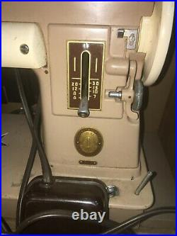 Vintage Singer Sewing Machine 301A with Foot Pedal Broken Storage Box