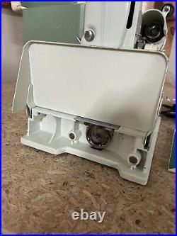 Vintage Singer White Featherweight Model 221K Portable Sewing Machine